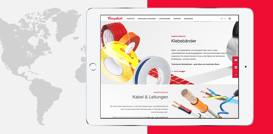 [Translate to Englisch:] Produktgruppeneinstiege auf Coroplast Corporate Website